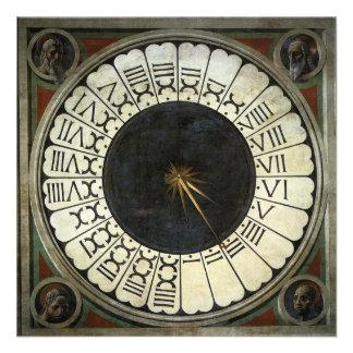 Reloj en el Duomo por Uccello arte renacentista Invitación Personalizada
