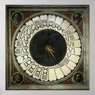 Reloj en el Duomo por Uccello arte renacentista Impresiones