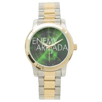 Reloj enemigo para hombre del logotipo del sonar