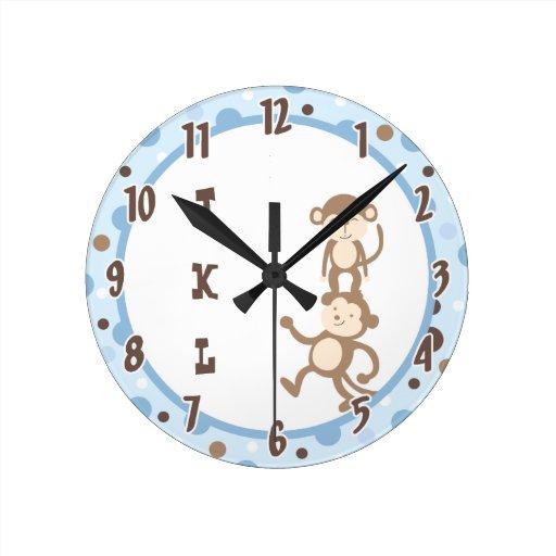 Reloj enrrollado azul de la selva del baile del mo