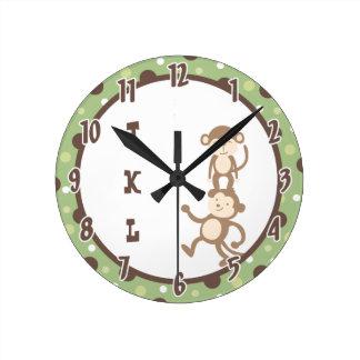 Reloj enrrollado verde de la selva del baile del m