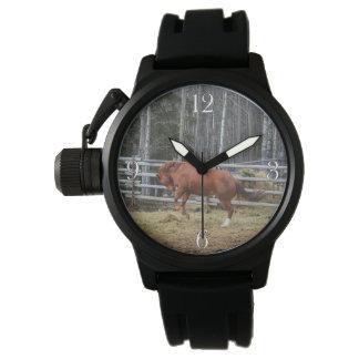 Reloj equino Bucking enérgico del caballo del