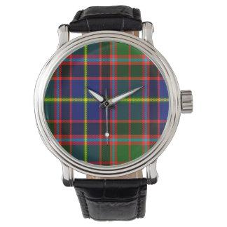 Reloj escocés del tartán de la familia de