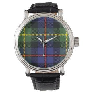 Reloj escocés del tartán de la familia de Lyon