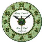 Reloj esmeralda del aniversario de boda