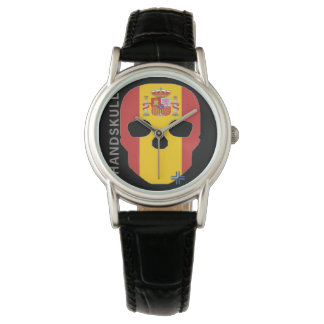 Reloj España de las mujeres de Handskull/reloj de