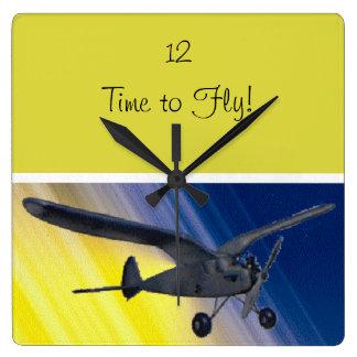 Reloj - espectro - aeroplano modelo
