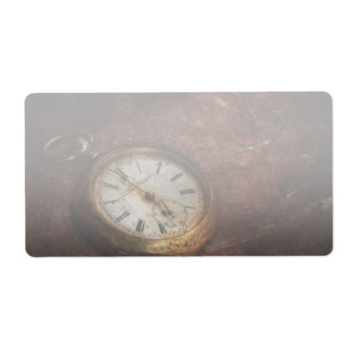Reloj - esperas del tiempo etiqueta de envío