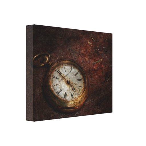 Reloj - esperas del tiempo lienzo envuelto para galerias