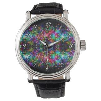 Reloj espiral de cristal roto