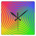 Reloj espiral del arco iris