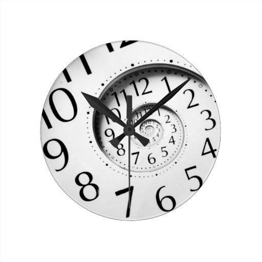 Reloj espiral del arte