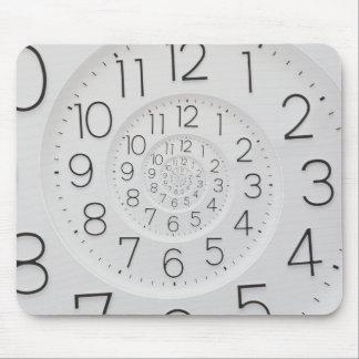 Reloj espiral Mousepad de Droste del reloj