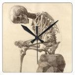 Reloj esquelético anatómico del vintage