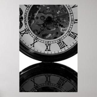 Reloj esquelético poster