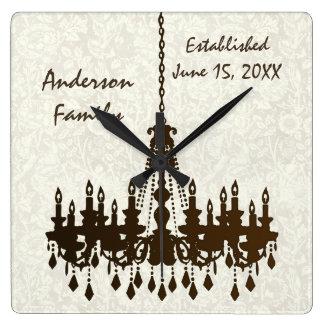 Reloj establecido familia personalizado de la