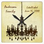 Reloj establecido familia personalizado de la lámp