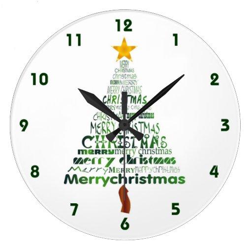 Reloj estilizado del árbol de navidad