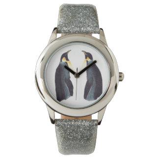 Reloj eWatchFactory del brillo de los pingüinos de