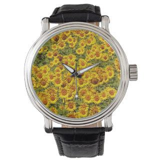 Reloj eWatchFactory del campo del girasol