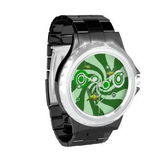 Reloj eWatchFactory del diamante artificial de la