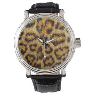 Reloj eWatchFactory del estampado leopardo