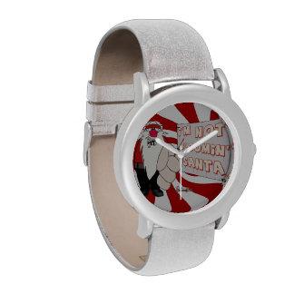 Reloj eWatchFactory gruñón del brillo de Santa
