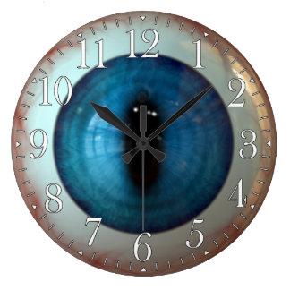Reloj extraño del ojo azul de la diversión del