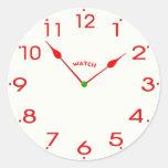 reloj face_02 pegatina redonda