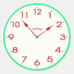 reloj face_02 pegatinas redondas
