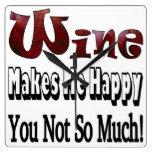 Reloj feliz del vino