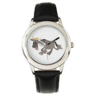 Reloj feliz lindo del Wildebeest del dibujo