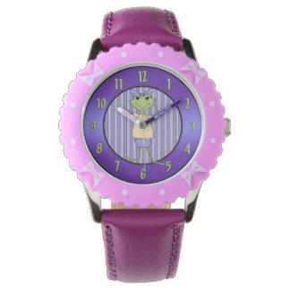 Reloj femenino de la rana del país