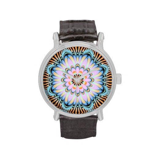 Reloj femenino del caleidoscopio de los estampados