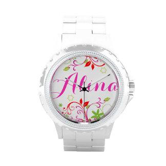 Reloj femenino florido conocido de los niños de lo