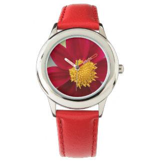 Reloj/flor del acero inoxidable del bisel del niño relojes