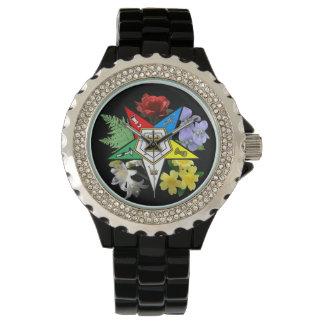 Reloj floral de la estrella del este