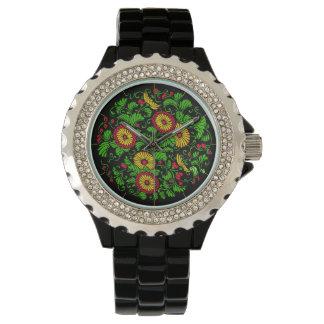 Reloj floral de Oriente