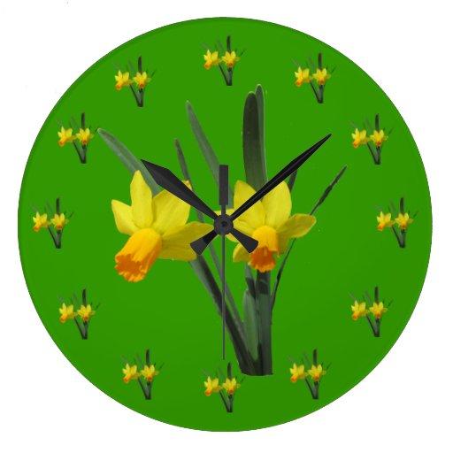 Reloj - flores del narciso