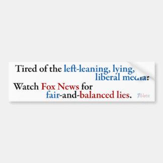 Reloj Fox News Pegatina Para Auto