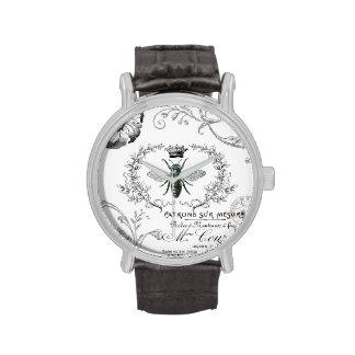 Reloj francés de la abeja reina del vintage