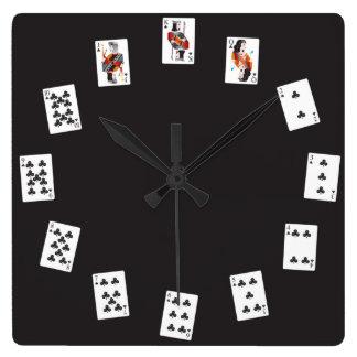 Reloj francés de la baraja (clubs)