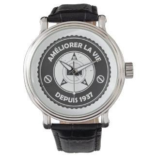 Reloj (francés) de la insignia del vintage de PMA