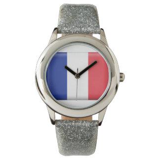 Reloj francés de los niños de la bandera