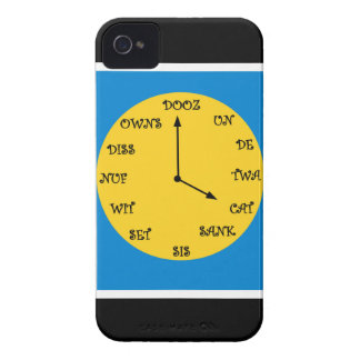 Reloj francés divertido iPhone 4 protectores