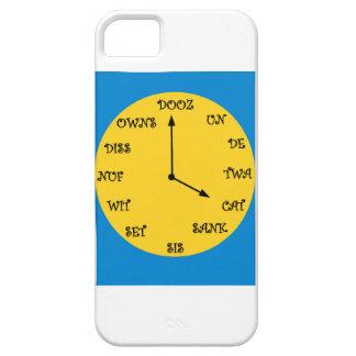 Reloj francés divertido iPhone 5 fundas