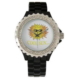 Reloj fresco de Sun con la segunda mano