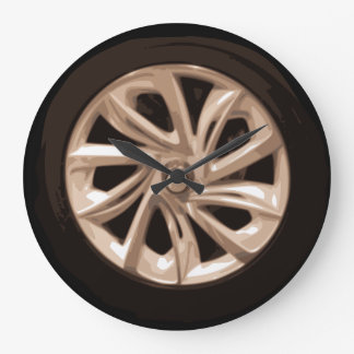 Reloj fresco del hubcap de la rueda de coche