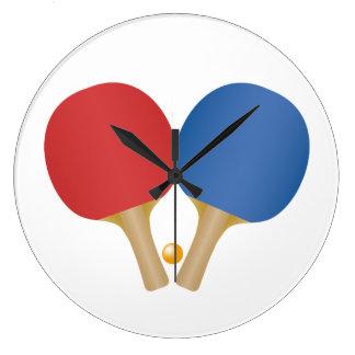 Reloj fresco del ping-pong