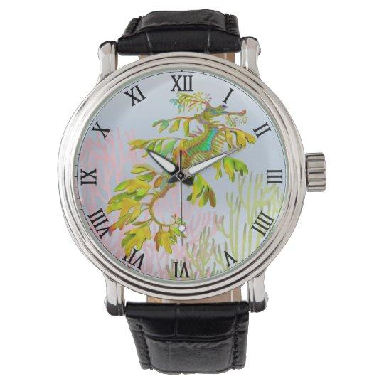Reloj frondoso del Seahorse del dragón del mar